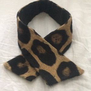 Vintage fur collar with leopard print